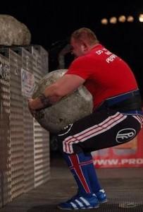 Stefan Solvi Petursson Strongman lifting Atlas Stones