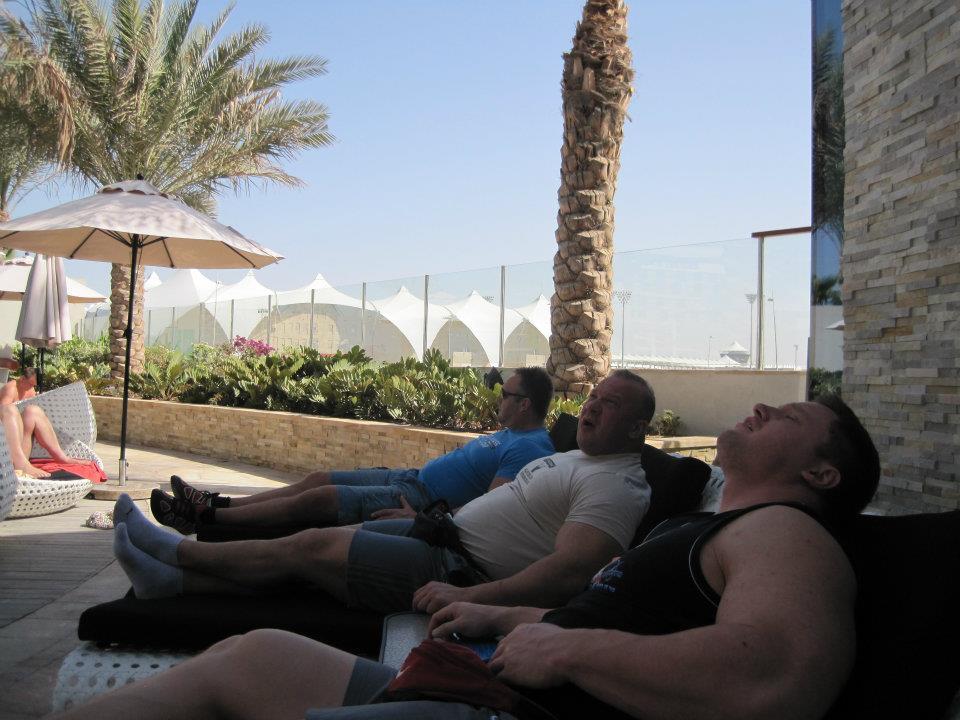 World Strongman Cup - Soaking up the Abu Dhabi Sun