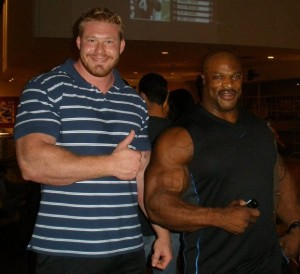 Vince Urbank and Ronnie Coleman