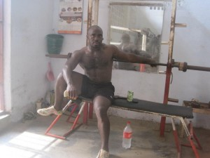 Wilfred Kebenghe Powerlifter Training