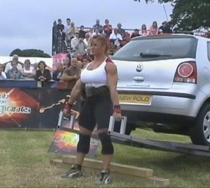 Jill Mills - Car Deadlift