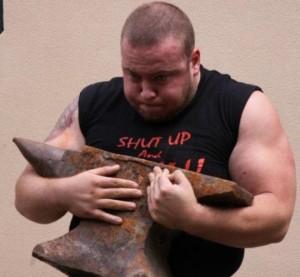 Jordan Steffens Strongman with Anvil