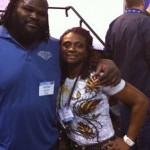 Dione Wessels and her good friend Mark Henry
