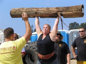 Kristin Rhodes - A real log press!