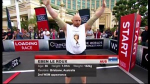 Eben competing at Worlds Strongest Man